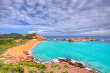 Cala Pregonda in Menorca at Balearic islands