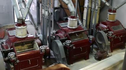 Production of wheat flour