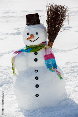 Winter, snow, snowman - winter joy