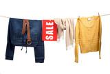 Fototapety Women's fashion sale on the clothesline