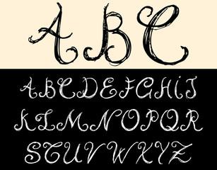 Blackboard Alphabet