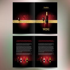 booklet catalog brochure folder wine red vine grape