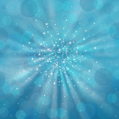 Blue shimmering background