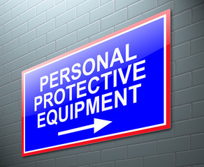 Personal protective equipment concept.
