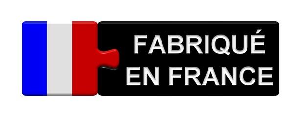 Puzzle Button Frankreich: Fabriqué en France