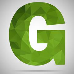 Mosaic letter G