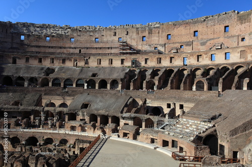 Inside in Colosseum, Rome, Italy