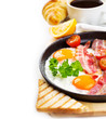pan of fried eggs