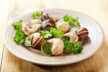 plate of escargots