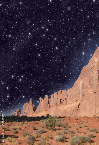 Night over Monument Valley, USA