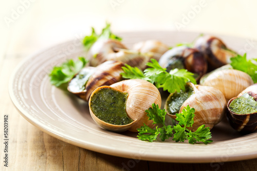 plate of escargots