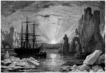 North Pole : Midnight Sun - 19th century