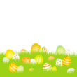 Easter Card Meadow Eggs Yellow/Orange/Green