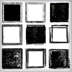 Set of grunge shapes. vector illustration.