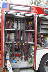 Water pipe valves, rescue equipment of fire-fighting truck