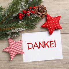 Danke Karte Weihnachten