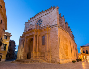Ciutadella Menorca Cathedral in Ciudadela at Balearic