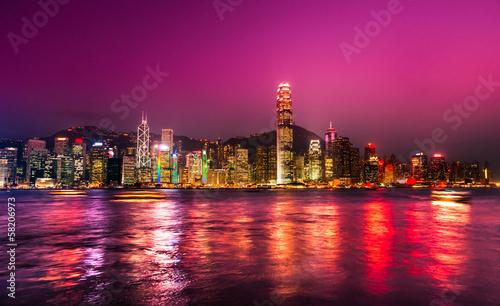 Leinwanddruck Bild Hong Kong.
