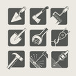 construction tools. set of vector icons. vector illustration