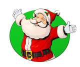 Smiling Santa Claus. Vector illustration isolated on white