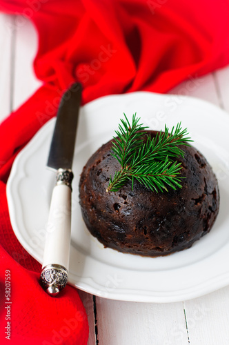 Christmas Pudding, copy space for your text