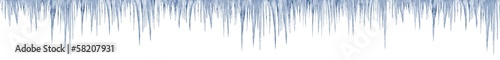 icicles on white background 1 meter long in print size