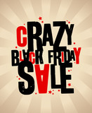 Black friday sale crazy banner.