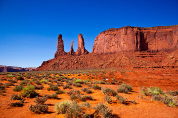 Three Sisters, Monument Valley National Park, Arizona
