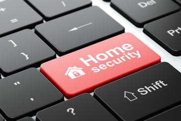 Security concept: Home and Home Security on keyboard