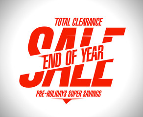 End of year final clearance design
