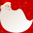 vector illustration of Santa Claus in Merry Christmas background