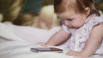 Child with smart phone