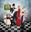 Magician Family with Tricks and Games