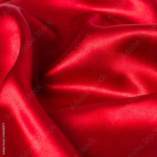 Red christmas background - abstract cloth
