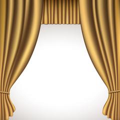 Rideaux théâtre-or