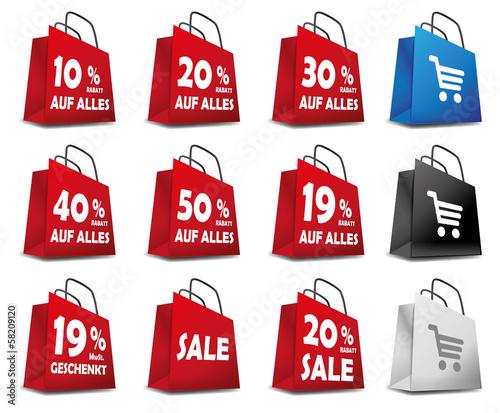Icon Einkaufskorb Sale Rabatt Aktion Geschenkt Prozente