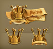 Gold crown, icon