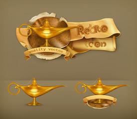 Oil lamp, icon