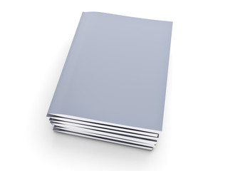 Stack of grey notebook