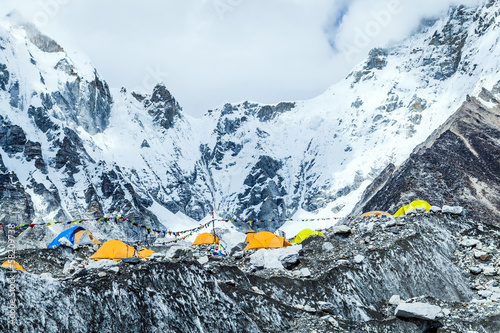Fotobehang Nepal Everest Base Camp mountains landscape