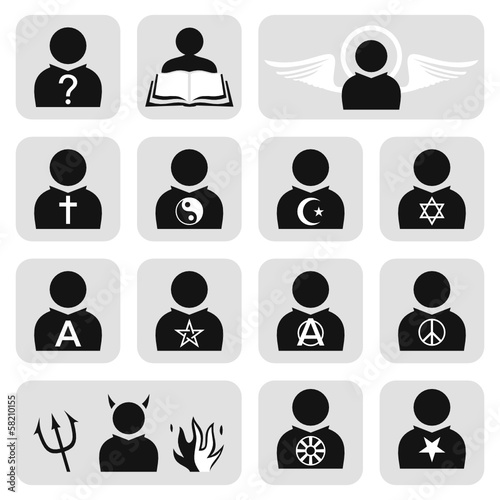 Religious people avatar set