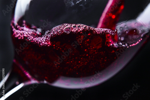 Plexiglas Bar red wine