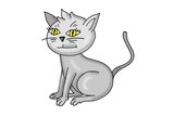 Katze, Kater, Karikatur, Cartoon, Comic, Cat