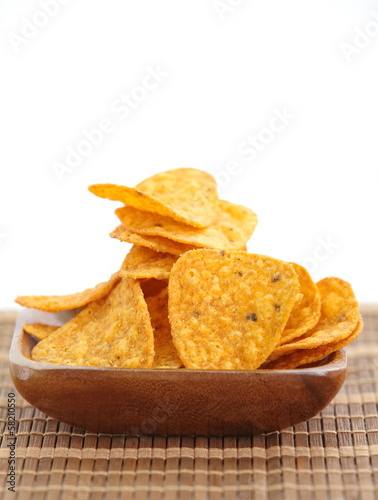 Tortilla chips tacos
