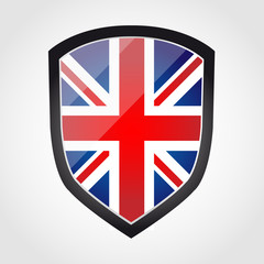 Shield with flag inside - United Kingdom - UK