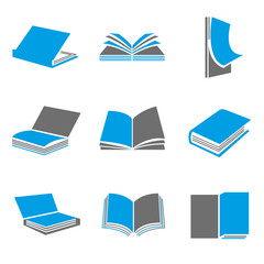 document icons set, blue theme