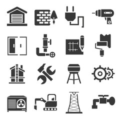 construction icons, icons set