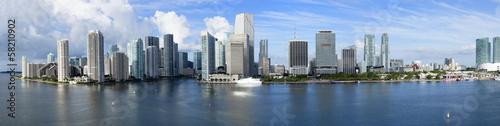 Skyline von Miami Beach als Panoramafoto
