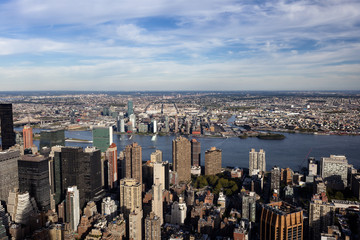 Aussicht vom Empire State Building auf Manhattan