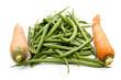 Frische Grüne Bohnen und Karotten